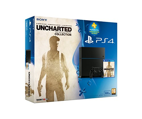 PlayStation 4 - Consola 500 GB Chassis C + Uncharted Collection + Suscripción 3...