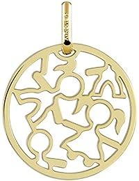 FILLETTE - Médaille ajourée ronde Laïque - Or Jaune 18 carats - Diamètre: 17 mm - www.diamants-perles.com