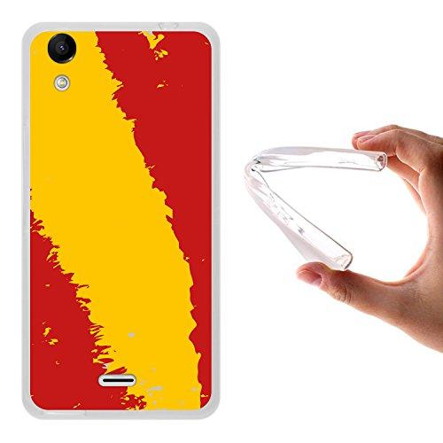 Wiko Rainbow Up Hülle, WoowCase Handyhülle Silikon für [ Wiko Rainbow Up ] Spanische Flagge Handytasche Handy Cover Case Schutzhülle Flexible TPU - Transparent