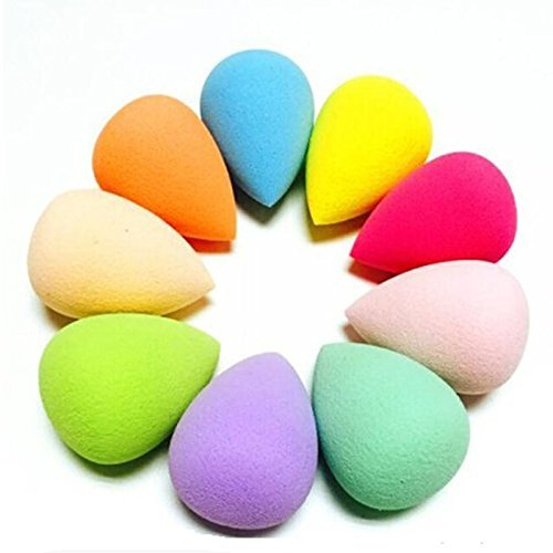 Tekhub Water Drop Makeup Blending Powder Puff Sponge (Pack Of 1, Random Color)