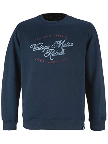 Herren Sweater Dickies State Line Sweater Dark Navy