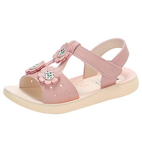 Lauflernschuhe Fliegendes Weben Schuhe Mesh Atmungsaktiv Sportschuhe Freizeit Krabbelschuhe,Kleinkind-Kind scherzt Baby-Blumen-Haken-beiläufige Prinzessin Shoes Sandals
