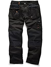 Scruffs Worker Plus Trouser Leg, Black, 34R (Manufacturer size: 44)