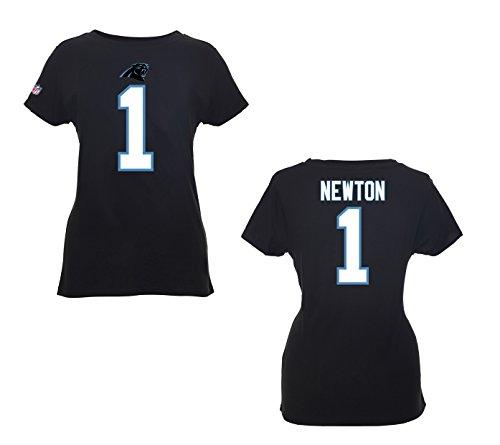 NFL Football T-Shirt Trikot Damen Women CAROLINA PANTHERS Cam Newton #1 Schwarz in XL (X-LARGE)