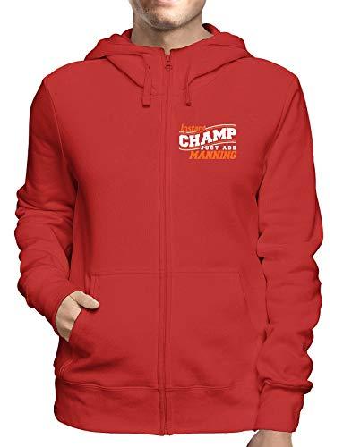 Sweatshirt Hoodie Zip Rot GEN0508 INSTANT Champ JUST ADD Manning Champ Zip Hoodie