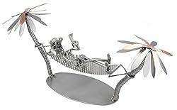 Schraubenmännchen Urlaub Hängematte I Handarbeit I Geschenkidee I Metallfigur I Metallmännchen I Stahlfigur I Schraubenmännle