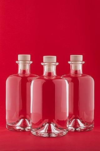 6 bouteilles en verre vides 500 ml APO SPI bouteilles de jus de pharmacie bouteilles de 0,5 litres de bouteilles d'huile bouteilles bouteilles d'alcool de vinaigre d'alcool de fabrique de