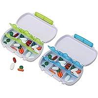 Pillenbox mit 6 fächer 2 PCS Wasserdicht Tablettenbox für Reisen und Draußen Forepin Pillenbox Organizer - preisvergleich