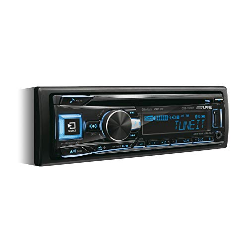 Alpine CDE-193BT CD/USB Receiver mit Bluetooth, Schwarz