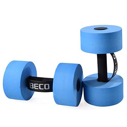 Beco Aqua Hantel Größe S | M | L Aqua Fitnessgerät Wassersport aus PE-Schaum, Large, C) Blau - Größe L