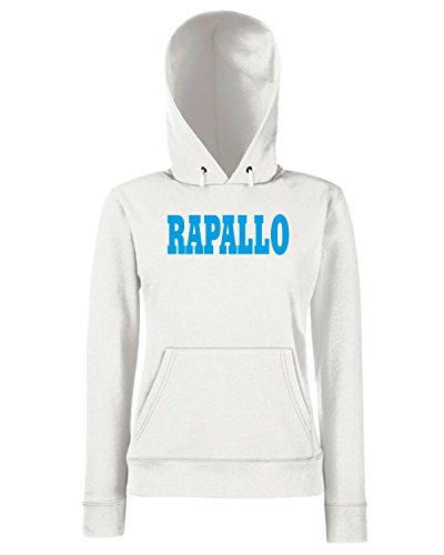T-Shirtshock - Sweats a capuche Femme WC0883 RAPALLO ITALIA CITTA STEMMA LOGO Blanc