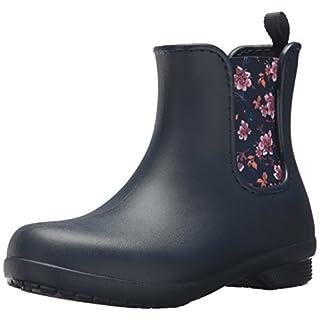 crocs Freesail Chelsea Boot Women, Damen Gummistiefel, Blau (Navy/Floral), 39/40 EU