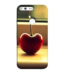 For Google Pixel XL beautiful fruit ( beautiful fruit, fruit, nice fruit, brown background ) Printed Designer Back Case Cover By CHAPLOOS