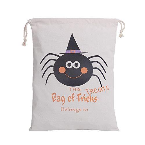 Feytuo Aufbewahrungstasche Halloween Beam Männer und Frauen Halloween Kürbis Muster Casual Bag