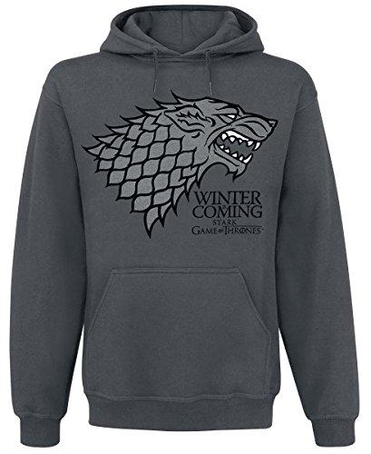 Game of Thrones - Il Trono di Spade - Felpa con cappuccio - Stampa con motivo della Casa Stark - L