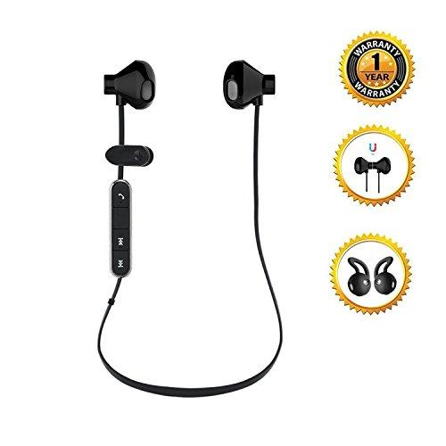 Auricolari Bluetooth 4.1 Magnetici, Daping Cuffie Sportive Stereo con Microfono Headset Wireless a Prova di Sudore, Headphone AptX Tecnologi, CVC 6.0, IPX5, A2DP, - Nero