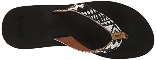 Reef Midday Tides, Tongs femme Blanc (Black/White)