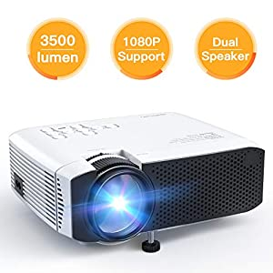 """APEMAN Projector Video Mini Projector Portable Home Cinema Projector LCD 3500 Lumens 45000 Hours LED Life Support 1080P 180"""" HDMI/VGA/USB/ Micro SD Card/AV Input Chromecast Compatible"""