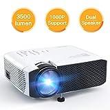APEMAN Beamer, Mini LCD tragbarer Beamer, 3500 Lumen, unterst¨¹tzt 1080p Full HD, 45000 Stunden, Heimkino-Projektor, Kompatibel mit Fire Stick, PS4, Chromecast, HDMI / VGA / AV /, Wei?