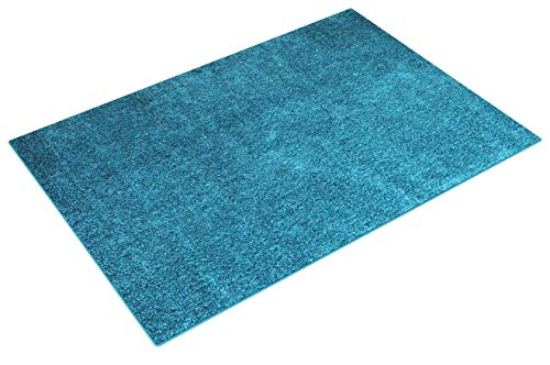 floor factory Alfombra Moderna Colors Azul Turquesa 160x230cm - Alfombra Shaggy al Precio súper económico