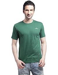 Crosscreek Casual Green Solid T-Shirt - 910014