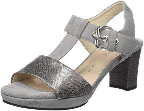 Gabor Shoes Gabor Jollys, Sandalia con Pulsera para Mujer, Azul (Nightblue/Pazifik), 40 EU