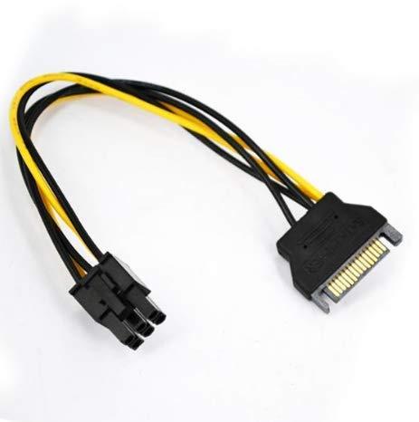 TopgadgetsUK SATA-Stromkabel auf 6-poligen PCI-E PCI Express Stromkabel PSU Power Graphics Converter Adapter Videokarte Stromkabel (Graphic Converter)