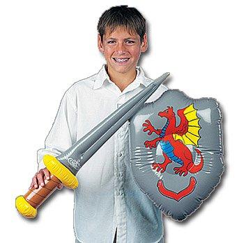 Ritter Set mit aufblasbarem Schwert und Schild ()