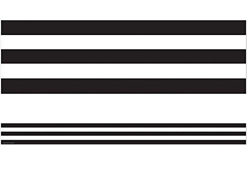 Teacher Created Ressourcen schwarz und weiß gestreift gerade Border Trim (5223) -