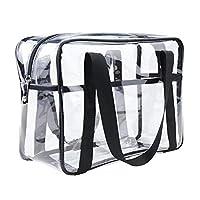 ONEGenug Clear Toiletry Bag Thick Transprent Cosmetic Bag Waterproof Makeup Artist Large Bag Organizer Storage Easy Clean