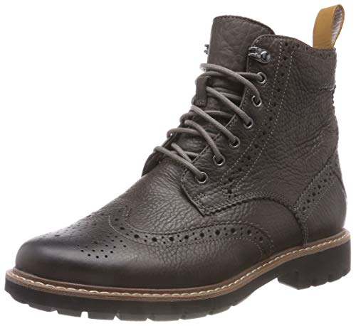 Clarks Batcombe Lord, Stivali Chelsea Uomo, Grigio (Taupe Leather), 41.5 EU