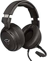 Trust Cuffie Gaming GXT 433 Pylo con Microfono a Scomparsa, Driver da 50 mm, 3.5 mm Jack, Filo, Over Ear, per
