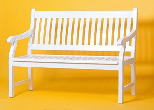Sedex NEW JERSEY 3-Sitzer Gartenbank aus FSC 100% Eukalyptusholz Holzbank Parkbank Bank weiß