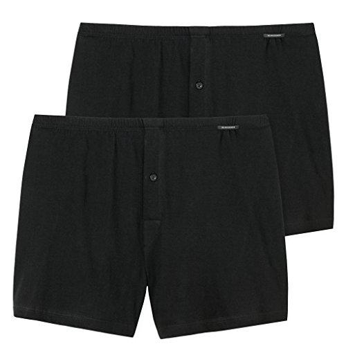 Schiesser Herren Unterhose Boxershorts 2 X Schwarz