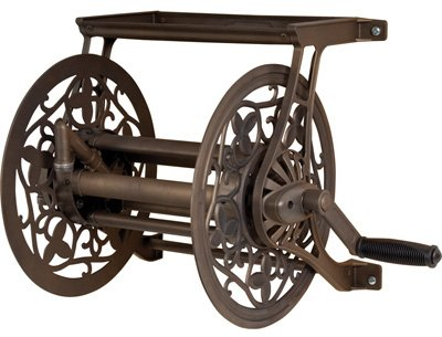AMES COMPANIES, THE - Reeleasy Hose Cart, Antique Bronze Aluminum, 125-Ft.