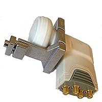 Für Nachrüstung von Kathrein - Spiegeln : Goobay Quad LNB 0,1 dB + LNB Adapter für Kathrein Spiegel; für direkten Anschluss an 4 Teilnehmer; HDTV, UltraHD, 4K und 3D