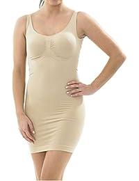 Mujer para mujer Slip perfecto para todos los tipos de cuerpo completo Control bajo vestidos