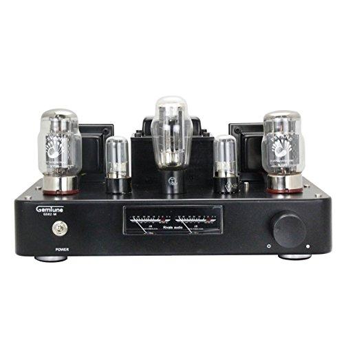 Gemtune GS-02M Hi-Fi Stereo Integrierter Röhrenverstärker mit VU-Pegelmesser, Tube KT88*2, 6H8C*2, 5Z3P*1