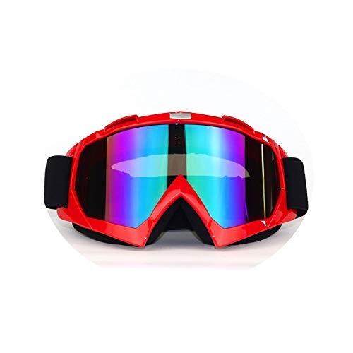 KnSam Winddicht Uv-Beständig Sportsonnenbrille Fahrrad Kratzfester Scheibe Panoramablickfeld Rot Bunt Schutzbrille