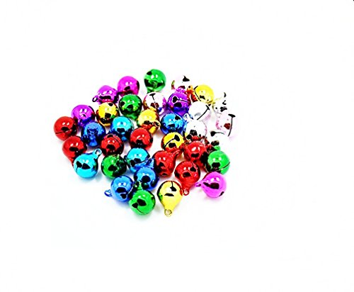 k gemischt Farbe Metall Ball Jingle Bells Musik Glocken für Festival Dekoration 10mm, metall, bunt, 10 mm (Musik-festival Dekorationen)