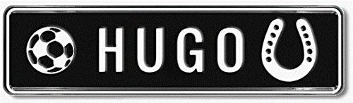 Geprägtes Nummernschild zum Selbstgestalten ✓ Witterungsbeständig ✓ Vielfarbig ✓ Ideale Geschenkidee | Individuelles Namensschild, Aluminium-Schild | Autoschild mit Namen & Spruch selbst gestalten | Aluschild, Kfz-Kennzeichen-Schilder mit Wunschtext