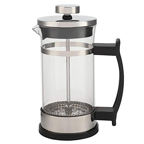 Glaskaffeekanne - Edelstahl Glaskaffeekanne French Press Filtertopf Haushalts-Teekocher