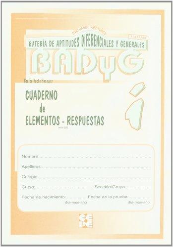 Badyg Grafico i. Cuaderno de items (Instrumentos Evaluacion)