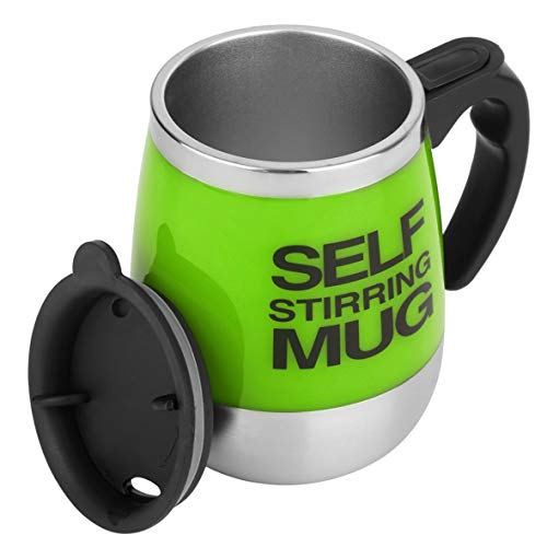Heaviesk Edelstahl Selbst Rührender Becher 450 ml Auto Mixing Drink Tee Kaffeetasse Hause Automatische Elektrische Kaffeetassen