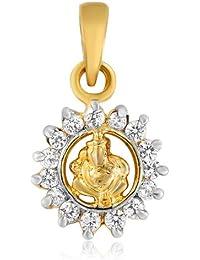 Mahi Gold Plated Mahabalaya Pendant Of Brass Alloy With CZ For Women PS1101374GC