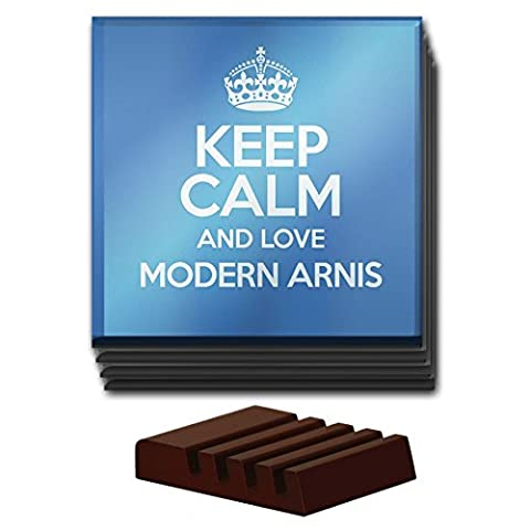 BLUE Set of 4 Keep Calm and Love Modern Arnis Glass Coaster COLOUR 1289