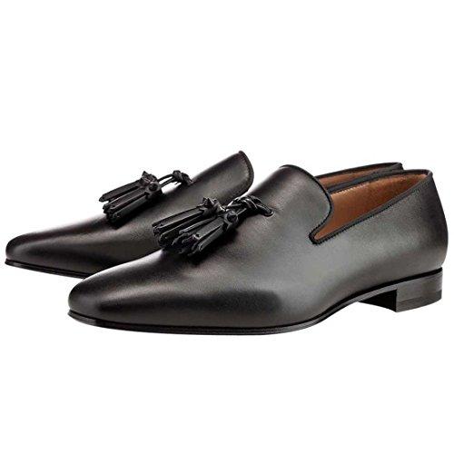 Cuckoo Chaussures à Lacets Pour Hommes Sur Chaussures Habillées Mocassins Glands Oxford Noir