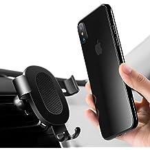 Supporto Auto Universale,Humixx Sensazione di Gravità Porta Cellulare Macchina Porta Telefono per Auto per iPhone X/8 / 7S / 6/5 / SE, Samsung ,Huawei, HTC ecc,Nero