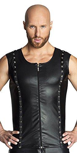 Preisvergleich Produktbild Noir Handmade Clubwear erotische Herren-Weste aus Wetlook Reizwäsche Größen 38 - M