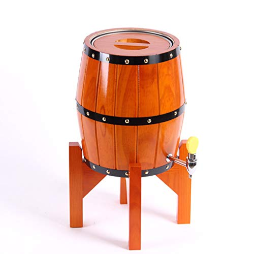 YILIAN Jiutong Barril Vertical de Roble Barril de Cerveza Barril de Acero Inoxidable Barril de Vino doméstico Barril de Vino decoración Barril de Vino Barriles de Vino (Color : Orange, Tamaño : 5L)